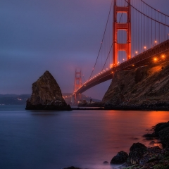 Morning Twilight at the Golden Gate