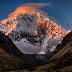 Sunset Light on Mount Salkantay