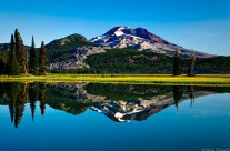 South Sister Reflected in Sparks Lake