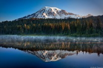 Mount Rainier Mirrored in Reflection Lake