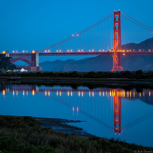 Golden Gate Reflection