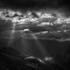 Sunbeams Illuminate Machu Picchu