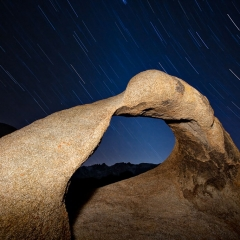 Mobius Arch and Star Trails